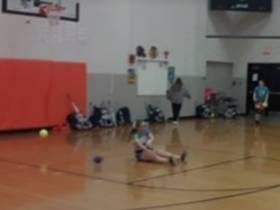 I Respect The Hell Out Of This Softball Player Dominating Dodgeball With The Underhand Toss