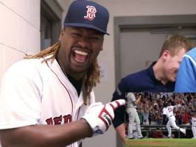 Hanley Ramirez Laughing Hysterically After Watching Himself Crush A Home Run Last Year Is Gold