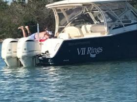 The First Official Sighting Of My Friend Bill (Belichick) New Boat VII Rings