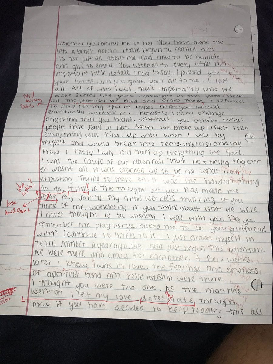 A College Bro Was Not Thrilled With His Exs Apology Letter So He