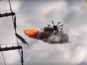This Fire-Breathing Drone That Cleans Power Lines In China Is Pretty Fucking Badass
