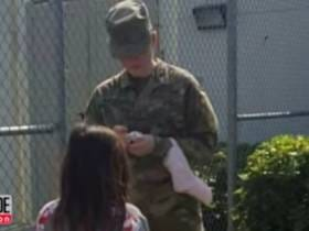 7-year-old Girl Leaving the Line for Red Sox Autographs to Get One From an Army Reservist Gets Me in Right in the Feels