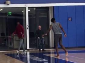 Here's The Moment Best Friends Embiid And Noel Say Goodbye And WHY IS JOJO TAKING JUMPERS BAREFOOT?!?!