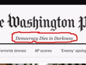 Washington Post Unveils New Slogan, Denies It Has Anything To Do With Trump