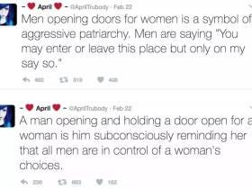 This Girl's Tweets About How Men Opening Doors For Women Is A Sign Of Male Oppression Makes My Life Hurt