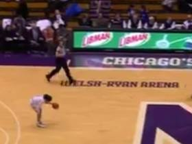 Northwestern Chick Stops In The Middle Of Dribbling To Tie Her Shoe