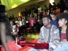 Some Chick In Big Boots Is Going Viral For The Aggressive Way She Shut Another Girl Down Coming At Her Man During A Charity Date Auction