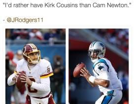 Two Former NFL Players Have Said They Would Pick Kirk Cousins Over Cam Newton