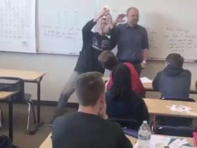 A Group Of Students Surprised A Teacher In Class When He Specifically Requested No Surprise Party And Oh God Did It Get Awkward