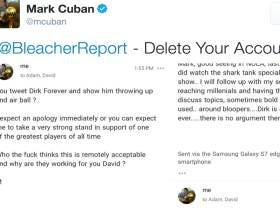 Bleacher Report Deletes A Tweet Making Fun Of Dirk Nowitzki's Airball And Publicly Apologizes After Mark Cuban Emails Them To Complain