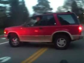 A Driver Had A Hilariously Psychotic Reaction To A Cyclist, Circling Him With A Car And Shouting 'Get Out' Like A Crazy Person