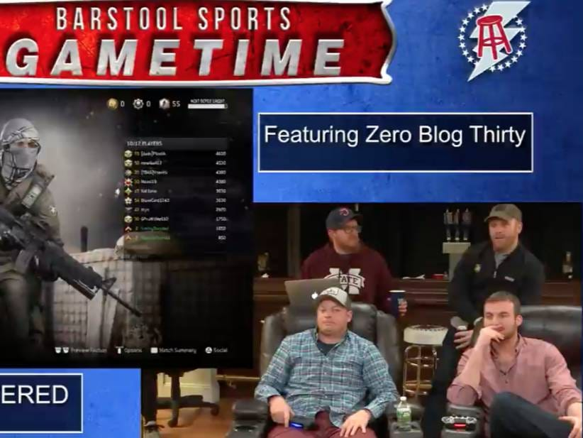 Barstool Gametime Welcomed Zero Blog Thirty To Play Call ...