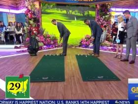 Tiger Woods Beat Michael Strahan In A Putting Contest On GMA So LOOK OUT WORLD