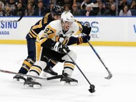 Sidney Crosby Is Doing A Ton Of Work With His Stick Tonight