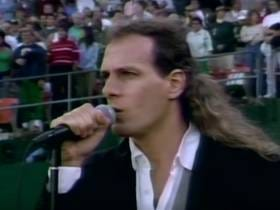 Wake Up With Michael Bolton Singing The National Anthem Before Game 4 Of The 1990 World Series