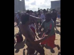One Dude Goes On An Absolute Rampage and Knocks Out An Entire Beach Full Of Spring Break Bros