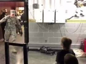 The Bruins Surprising a Kid with His Airman Dad Coming Out of the Locker Room Will Give You a Happy