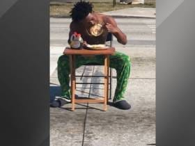 Dude Gets Arrested For Eating Pancakes In The Middle Of The Street