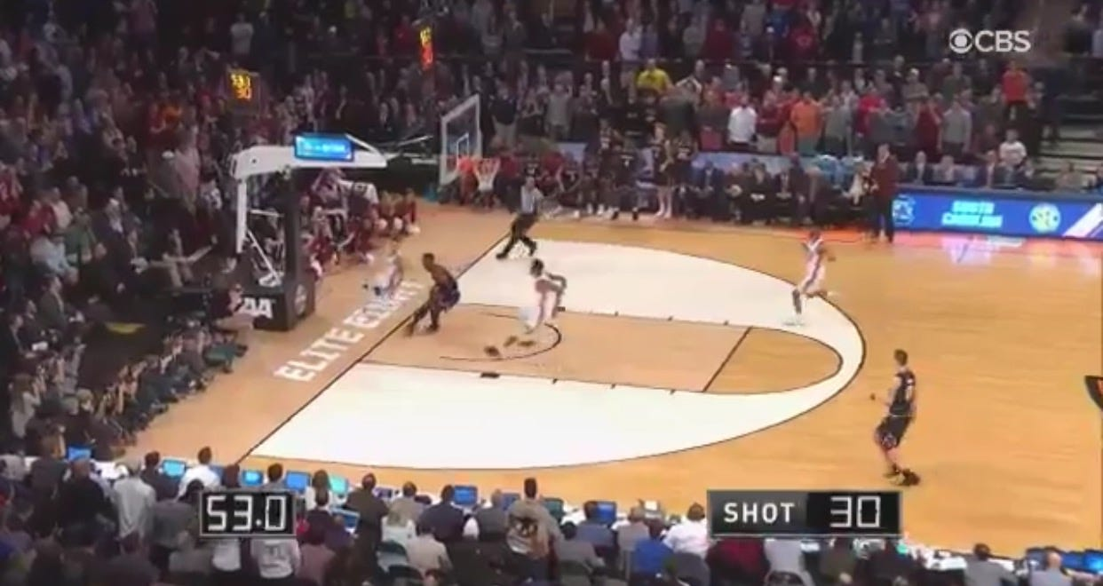 South Carolina Advances After A Wild No-Call On A Rather Blatant Travel