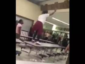 This High School Girl Wielding A Knife And Getting Tased Off A Cafeteria Table Is A Less Than Ideal Learning Environment
