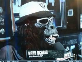 The Raider Fan Who Gave His Sportscenter Interview While Wearing A Gorilla Mask Is An Absolute Legend