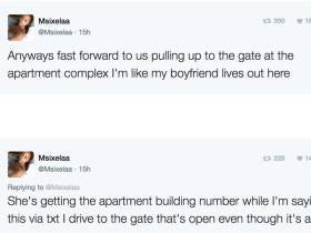 Uber Driver Drops What Turns Out To Be Her Boyfriend's Sidepiece Off At His Apartment, Live Tweets It And Goes Viral #UberBae