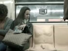 Mexico City's Metro Installs A Seat With A Dick On It. Not Comfy!