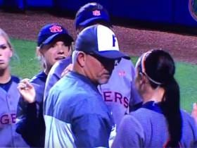 Auburn Softball Player and Florida Softball Coach Mix It Up In The Handshake Line