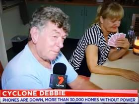 An Old (Maybe Drunk?) Australian Man Talking About Cyclone Debbie Giving Blowjobs On A Live News Broadcast Isn't Much Of A Surprise