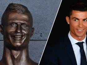 Cristiano Ronaldo Gets A Statue Unveiled Outside Airport Named After Him And It Looks Like Shit
