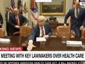 BREAKING NEWS - Sometimes Donald Trump Moves Water Glasses Around, Will Probably Be Stepping Down From The Presidency Soon