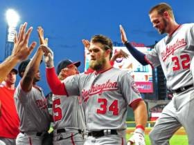 Bryce Harper Can't Stop Packing Box Scores