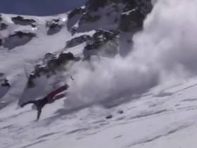 Skier Crashes HARD And Does A Billion Flips Along The Way