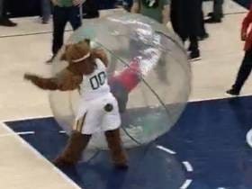 Love The Utah Jazz Mascot Delivering Swift Justice To This Grown Man Who Pushed Over A Kid