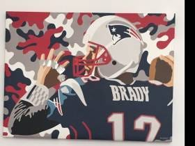 This Tom Brady Paper Collage Hanging In My Office May Be The Best Paper Collage Ever