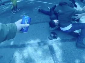 Guy Tries To Break Up The Berkeley Protests With Cans Of Pepsi Like Kendall Jenner...Doesn't Work As Well In Real Life