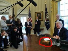Trump, Who Is President, Has A Button On His Desk Strictly For Ordering A Coke