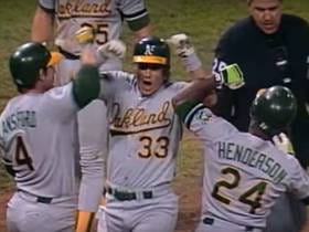 Wake Up With The A's Hitting 5 Home Runs In Game 3 Of The 1989 World Series