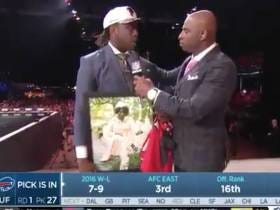 UCLA's Takkarist McKinley Carrying Around A Gigantic Portrait of His Grandma And Dropping Live F-Bombs Was The Highlight Of Draft Night