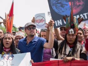 How About Leo Marching With Indians For Climate Change Or Something This Weekend