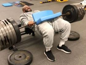 James Harrison Is In The Gym Making Sure His Hip Thrust Game Is Tight