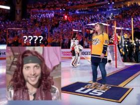 If Anybody Deserves To Have An Issue With The Nashville Predators' Anthem Singers, It's Justin Guarini