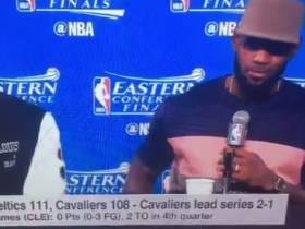 A Tradition Like None Other:  Bron Bron Crying Like A Baby At Post Season Press Conferences