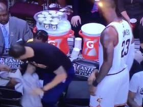 Lebron Making Deron Williams Get Up And Move To The End Of The End Of The Bench Is The Craziest Thing I've Seen