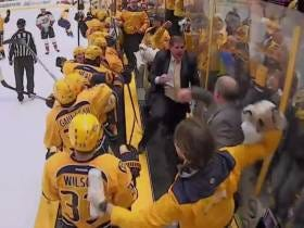 Peter Laviolette's Celebratory Fist Pumps Are Still Undefeated