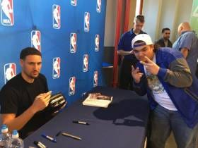 The Golden State Warriors Are Now 27-0 When Klay Thompson Plays After He Signed That Fan's Toaster In March