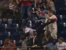 Phillies Fan Makes Web Gem Of A Diving Catch On His GF, Wisely Bullshits And Says He Was Simply Protecting His Lady