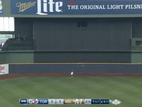 Jose Bautista Cracked A Home Run Off The Scoreboard In Miller Park