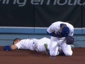 Yasiel Puig Absolutely Trucked Joc Pederson In The Outfield, Still Made The Catch