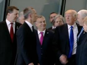 Trump Shoves NATO Leader Out Of The Way To Be First In Line